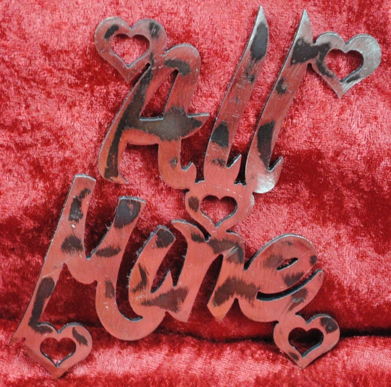 All Mine, Valentines Day Metal Art, Candy Heart Sayings, Valentines Day Party Decor, Valentines Day Gift, Gift for Him, Gift for Her, Decor