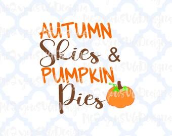 Autumn Skies Pumpkin Pies SVG,EPS,PNG,Studio