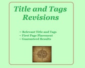 Etsy Shop SEO help, SEO optimization, title and tags, Etsy relevancy