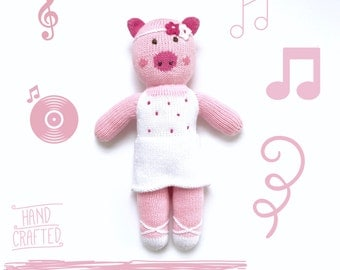 Plush Toy Hand Made with Peruvian Cotton Rosa the Pig