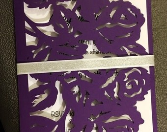 Rose invitations