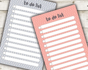Printable To Do List, Notes, Cute Notes, Printable Notepads, Printable Stationery,  Printable Notes, Instant Download, Planner Printables
