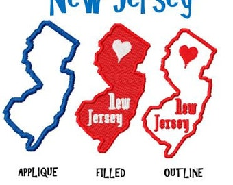 New Jersey Patch Etsy - New jersey on us map