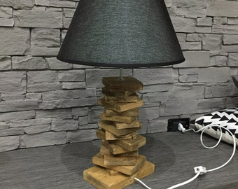 Wooden desk and lamp table