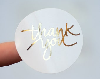 16 Thank You Stickers, Wedding Labels,Foil Stickers,Gold Foil,Rainbow Foil,Wedding Favors,Goodie Bags,Glossy Stickers,Envelope Seals
