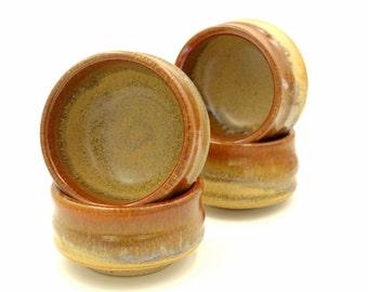 Ceramic Sauce Dish, ceranic small bowl, 4 ceramic bowl, salt and pepper, dipping bowl