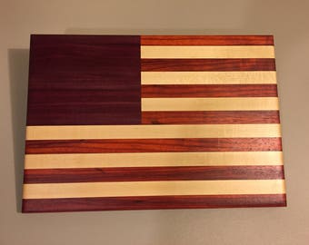 American made American flag,wood cutting board or display,great gift for graduation,retirement,wedding SHIPPING INC CBA-1063 10x14x.75
