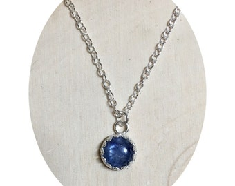 Sterling Silver and Kyanite Necklace | 16""