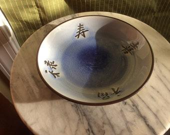 Blue deep plate, home decor, server