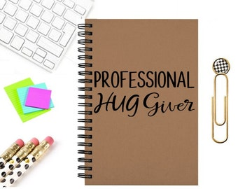Notebook journal professional hug giver travel notes