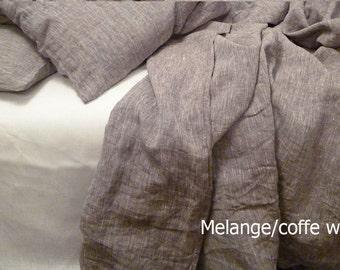 Duvet cover 100% Linen melange,linen bedding,natural organic duvet cover,flax bedding,linen duvet cover queen,linen duvet cover king