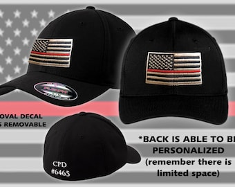 Thin Red Line // Fitted // Flexfit // Hat // Firefighter // Support // Flag