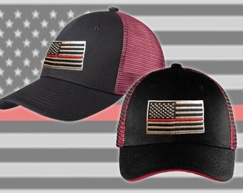 Thin Red Line // Mesh // Contrast // Hat // Firefighter// Support // Flag