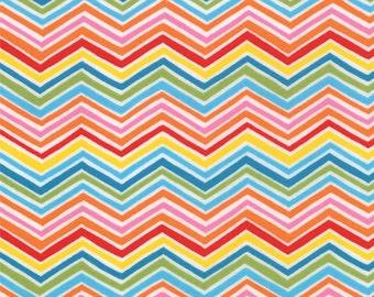BTHY - Bloomin' Fresh by Deb Strain for Moda, Pattern 19665-12 Spring Chevron in Multi Pick Colors, Zig Zag, by HALF YARD
