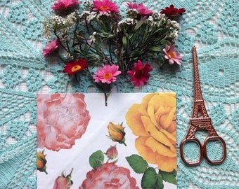 Handmade flower envelope #1