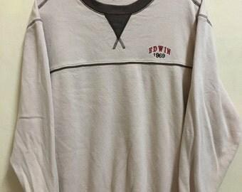 Vintage 90's Edwin 1969 Sport Classic Design Skate Sweat Shirt Sweater Varsity Jacket Size L #A709