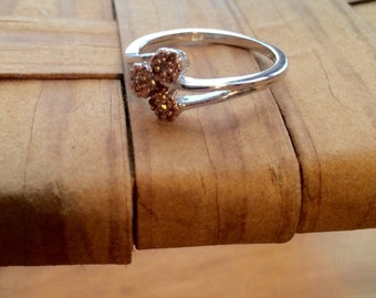 Copper Cluster Sterling Silver Ring