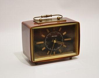 Vintage Mantel Collectible mechanical Vesna Clock USSR, Soviet desk clock