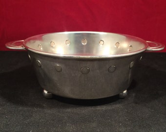 Art Deco Silver Plate Footed Bowl 1930's