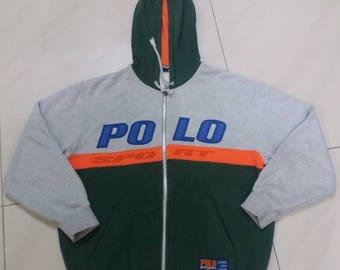 Vintage Polo sport hoodie pullover spellout embroidery /150 size/polo stadium/polo bear/polo ski/polo shield