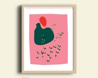 Neutral abstract print, abstract PRINTABLE, minimalist art, 8x10, 16X10, 5x7, abstract wall art, nursery abstract print, abstract pink print