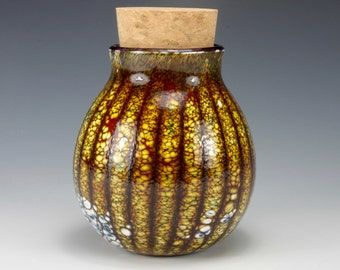 Large Glass Stash Jar with Cork Stopper