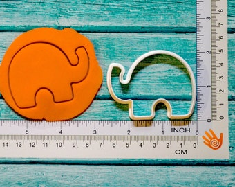 Elephant cookie cutter 3D Printed Select your size