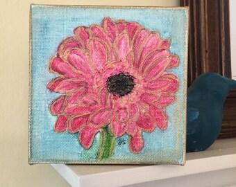 Gerber Daisy | 4x4 Canvas
