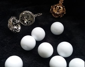 18mm White Harmony Mexican Angel Bola Charm Musical Chime Ball Bead