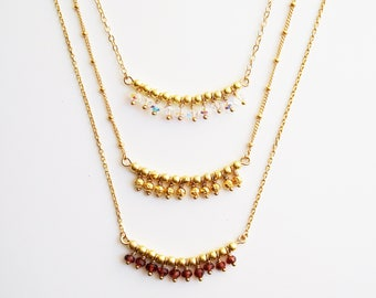 Necklace 14 k gold-plated Constellation