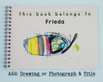 Childrens Personalised Notebook, Kids Custom Notebook, Personalised Gifts for Kids, Childrens drawing, Personalised Gift