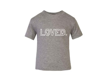 Grey Special Edition 'Loved' T-Shirt / Baby Grow