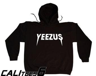 YEEZUS Concert Hoodie Hooded Sweatshirt - Old School Hip Hop - KANYE WEST- White Print