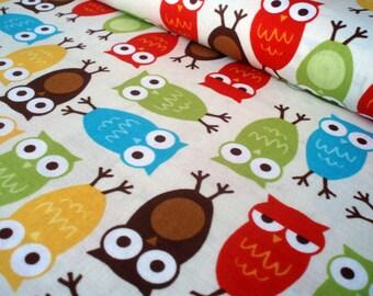 Cotton fabric Urban zoologie - owls