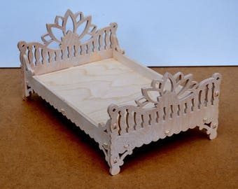 Barbie And Ken Family Bed In Indian Style, Dollhouse Miniature Furniture,  Dollhouse Bedroom,