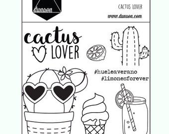 "Sellos acrílicos ""Cactus Lover"""