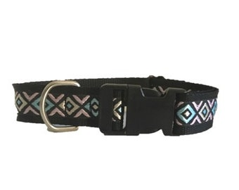 With buckle or martingale dog collar