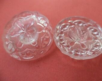 Glass button 8 GLASS BUTTONS transparent 23 mm (5691)
