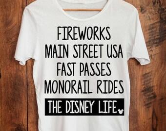 Fireworks-Main Street USA-Monorail-Fast Pass-Disney Life-Vacation Iron On Decal Tshirt-Vinyl Decal-Mickey Word Art-Car Decal-Coffee Mug