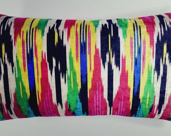 Abstract Multicolor Pillow Cover, Accent Pillow, Vibrant Colors, Throw Pillow Cover, Home decor pillow