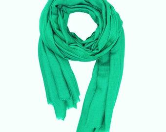 Pashmina Cashmere Wrap Shawl Scarf Aqua Green,100% Cashmere Wool,Diamond Weave,Wedding,Bridesmaids,Favors, Bridal, Formal, Summer Evening