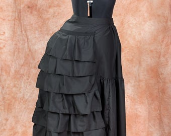 Victorian Steampunk Petticoat with Wire Bustle late 1800s, handmade, Size S-XXL, custom made
