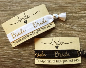 Bride hair tie /wrist band