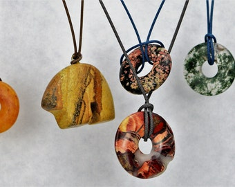 Natural stone pendant assortment gift pack!