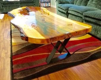 Diamond Coffee Table Legs, Industrial Coffee Table Legs, Set of 2 Flat Steel Coffee Legs