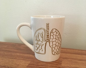 Gold Lungs - Gold Anatomy set - Just breathe - customizable mug