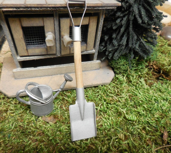 Fairy Garden Tools, Miniature Galvanized Shovel For Fairy Gardens,  Terrariums, Zen Gardens, Realistic Dioramas, Kinetic Sand, And Dollhouses  From ...
