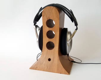 Original Wood Headphones stand from pear