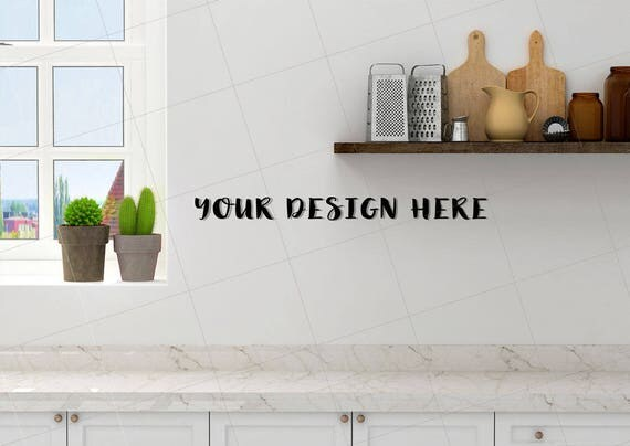 Blank Kitchen Wall kitchen mock up blank wall photography kitchen wall art