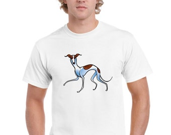 Whippet Lurcher Greyhound Design T Shirt by Ameiva Apparel